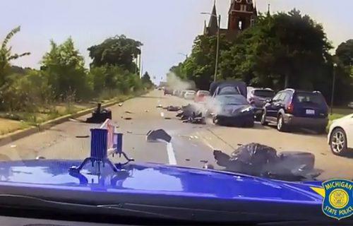 Kradljivci kola napravili HAOS na putu: Pogledajte snimak filmske potere (VIDEO)
