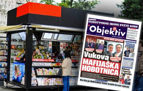 Danas u novinama Objektiv: Jeremićeva mafijaška hobotnica, Nole i Popovič su familija (NASLOVNA STRANA)