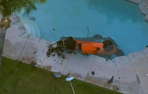 Udario u zid, pa završio u bazenu: Stravična NESREĆA kao opomena vozačima (VIDEO)