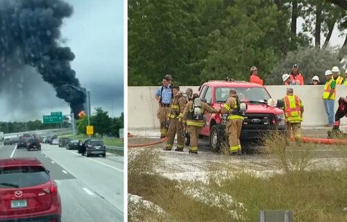 STRAŠNA NESREĆA: Cisterna s gorivom eksplodirala na putu, vatrogasci satima gasili požar (VIDEO)