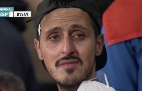 Suze i neverica na tribinama: Italijani slomljeni nakon gola Morate (FOTO)