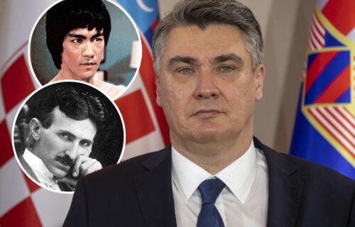 Lupio, pa ostao živ: U pokušaju da PONIZI Srbiju, predsednik Hrvatske uporedio Brus Lija sa Teslom!