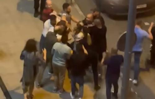 ŽESTOK OKRŠAJ sa komunalcima i policijom u Podgorici: Prvo skočili gosti kafića, potom i vlasnik (VIDEO)