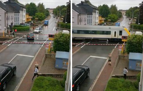 Volkswagen se zaglavio nasred PRUGE, a onda je naišao voz: Stravičan snimak kao opomena vozačima (VIDEO)