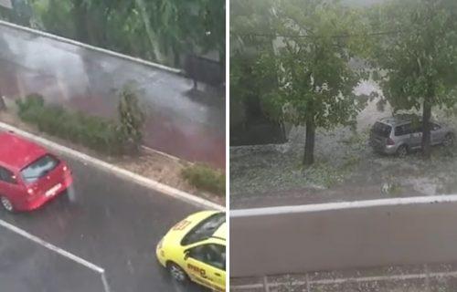 Nevreme UZBURKALO veći deo Srbije: Padao grad veličine JAJETA i kiša praćena snažnim vetrovima (VIDEO)