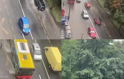 Nevreme se sručilo i na Beograd: Jak pljusak i grmljavina u prestonici - RHMZ izdao UPOZORENJE (VIDEO)
