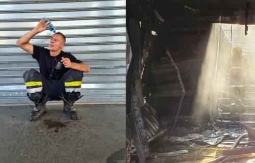 """""""Halo, 193, gori vam kolega"""": Srpski vatrogasac izazvao OPŠTU POMETNJU na društvenim mrežama (FOTO)"""