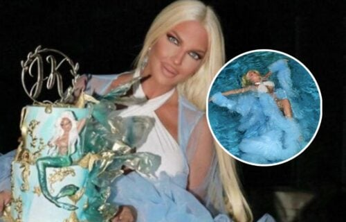 JK završila u bazenu na TAJNOJ rođendanskoj proslavi: Stajling ledene kraljice bio je skroz MOKAR (FOTO)