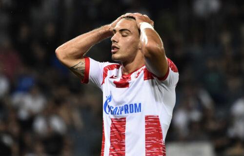 Suze u očima Zvezdinog klinca: Krstovića slomile emocije nakon poraza od Šerifa! (VIDEO)
