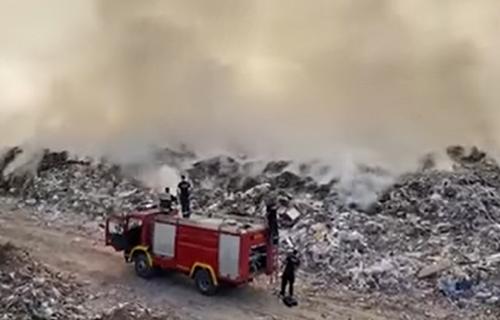 Vatrogasci se POVUKLI sa Vinče: Požar na deponiji u potpunosti LOKALIZOVAN