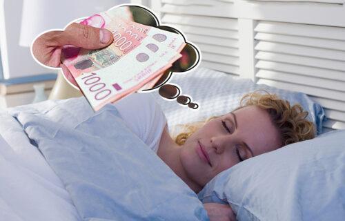 sanjati novac