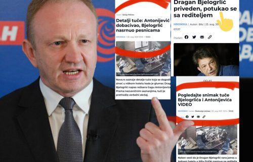 """Đilasov portal LAŽE i obmanjuje javnost: Krvnički NAPAD na Antonijevića predstavili kao """"tuču"""" (FOTO)"""