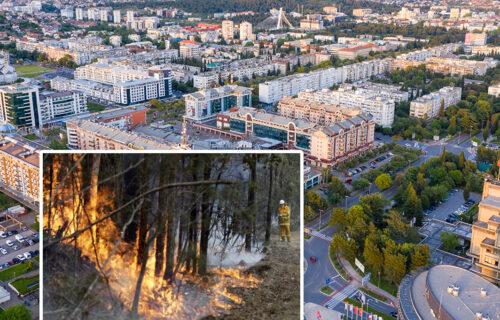 Gori Malo brdo kod Podgorice: UGROŽENI stambeni objekti, gradonačelnik tvrdi da je požar PODMETNUT (FOTO)