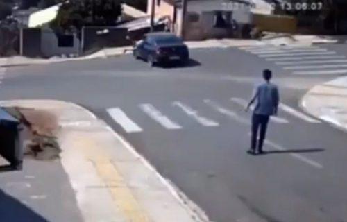 Heroj! Mladić video auto kako nekontrolisano srlja i na NESTVARAN način sprečio tragediju (VIDEO)