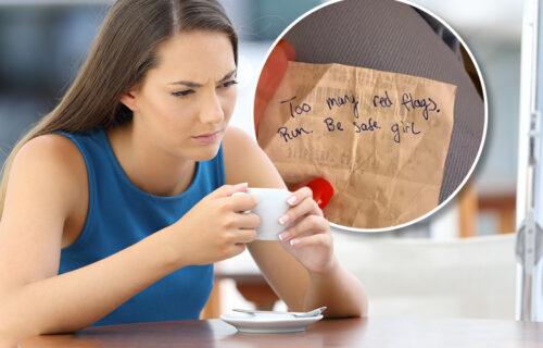 Izašla sa momkom u kafić, pa od neznanca za susednim stolom dobila poruku: Kada je pročitala, ZANEMELA JE