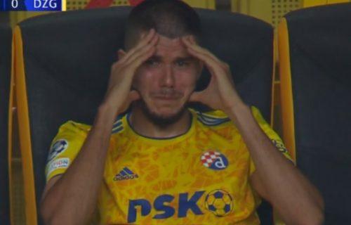 Igrač Dinama ronio krokodilske suze usred utakmice sa Šerifom (FOTO)
