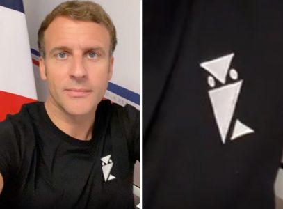 Makron pokazao TAJNI znak? Čitava zemlja BRUJI o majici francuskog predsednika (FOTO)