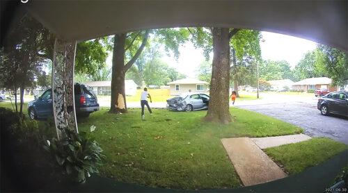 Slupali se u tuđem dvorištu, pa POBEGLI glavom bez obzira: Pozadina priče je neverovatna (VIDEO)