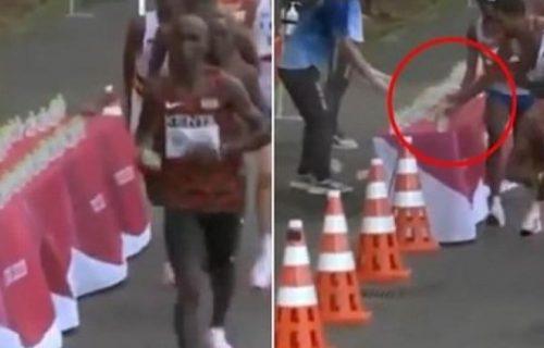 Nije mogao da nađe gori izgovor: Atletičar koji je obarao flaše rivalima na OI se opet izblamirao (VIDEO)