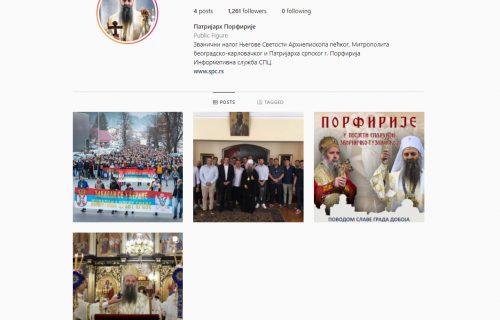 Patrijarh Porfirije dao blagoslov: Otvoren zvaničan nalog poglavara SPC na Instagramu (FOTO)
