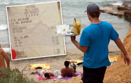 """Čak i """"neću ništa"""" ima CENU: Račun sa plaže u Budvi pravi HIT na društvenim mrežama (FOTO)"""