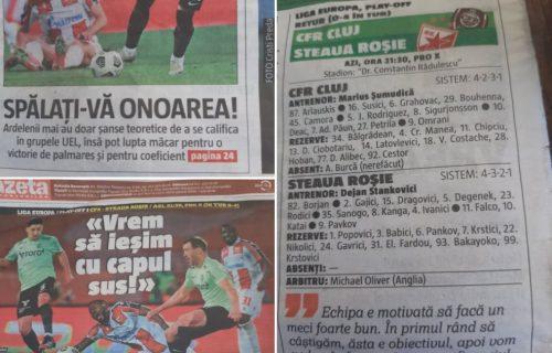 Prelistavamo rumunsku štampu: Ne zanima ih meč sa Zvezdom, stavili u tim igrača koji nije ni otputovao!
