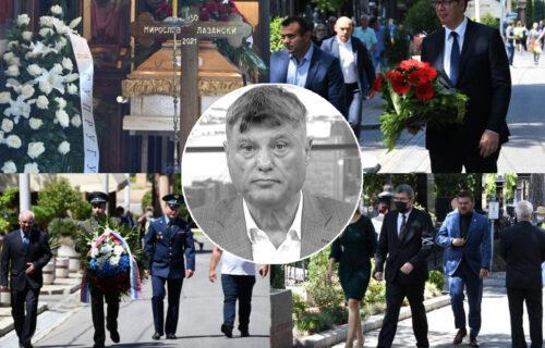 SAHRANJEN Miroslav Lazanski: Poslednji ispraćaj velikog novinara, analitičara i srpskog ambasadora (FOTO)