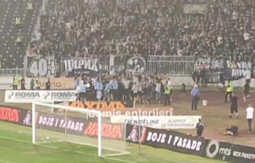 """""""Grobari"""" slave sa igračima veliku pobedu: Humska ne pamti ovakvu feštu! (VIDEO)"""