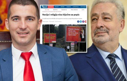 Bečićevi i Krivokapićevi mediji prave uvertiru: Građani se na popisu ne mogu izjasniti kao Srbi?