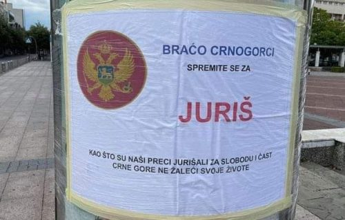"""Sramno! U Podgorici osvanuli plakati sa OPASNIM porukama: """"Braćo Crnogorci, spremite se za JURIŠ"""""""