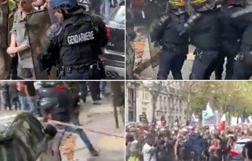 Haos u Parizu! Policija i demonstranti u žestokom okršaju, sevaju LETVE i suzavac (VIDEO)