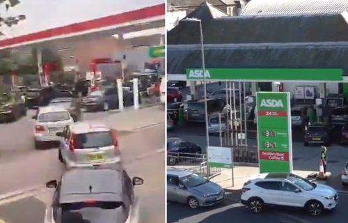 NESTAŠICA goriva u Britaniji: Ogromni redovi na pumpi, vozači nose kante, a razlog je NEVEROVATAN (VIDEO)