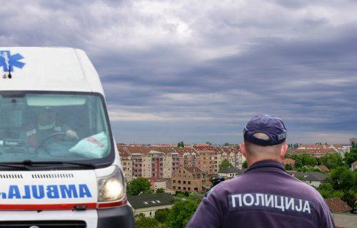 Užas u Novom Sadu: Muškarac pao sa zgrade, na tlu je ostala LOKVA KRVI