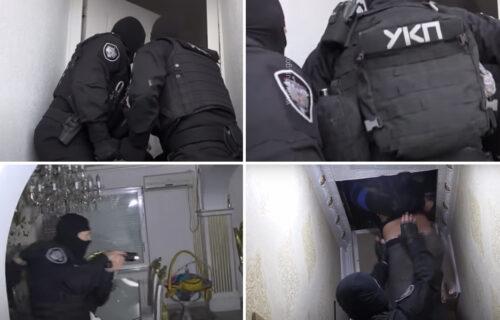 Ovnom razvalili vrata vile na Voždovcu: Policajci ŠOKIRANI PRIZOROM, vlasnik se sakrio na tavanu (VIDEO)