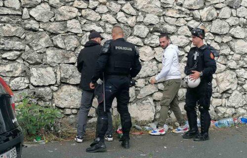 Preselo im prepodne: Pogledajte kako policija pretresa i privodi komite kod Cetinja (VIDEO)