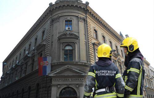 Izbio POŽAR u Narodnoj banci Srbije: Evakuisana zgrada u centru Beograda, na terenu više vatrogasaca