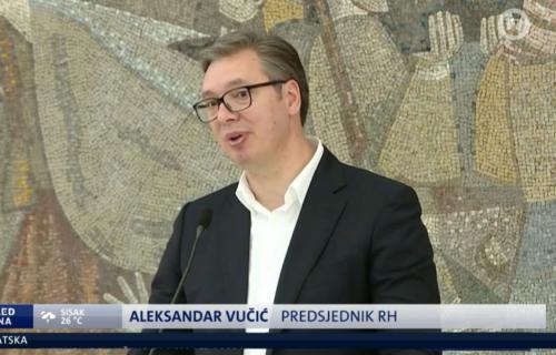 """KOMPLEKSI su čudo! Hrvatski mediji OPSEDNUTI Vučićem, potpisali ga kao """"predsednik Hrvatske"""" (FOTO)"""