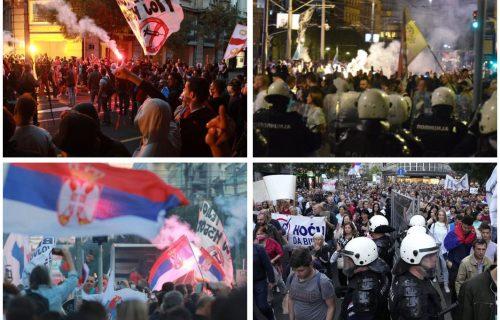 Antivakseri napravili HAOS u Beogradu: Nasrtali na policiju i BACALI baklje! (FOTO)