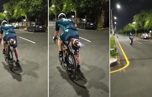 Ispunio dečački san i napravio MLAZNI bicikl: Pogledajte kako je prošlo testiranje (VIDEO)