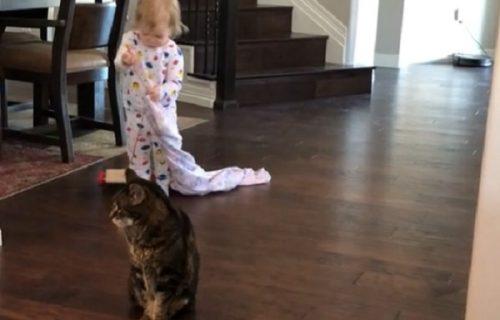 Jutarnji hit: Devojčica brižno prekrila macu ćebencetom, a njena reakcija kupila je sve (VIDEO)