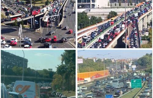 Naoružajte se STRPLJENJEM: Ogromne gužve u Beogradu, vozila na Gazeli praktično STOJE (FOTO)