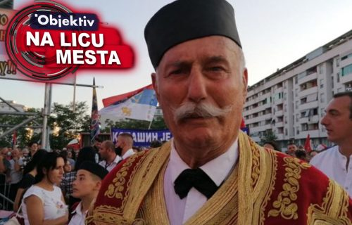 Deka na IVICI SUZA ispred Hrama u Podgorici: Došao sam da bih prvi put video patrijarha Porfirija (VIDEO)
