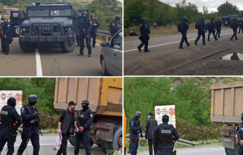HAOS na Jarinju! Oklopna vozila krenula na Srbe, naš narod se drži zajedno (FOTO/VIDEO)