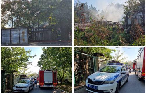 PRVI SNIMCI sa lica mesta: Vatrogasci lokalizovali požar na Novom Beogradu (FOTO+VIDEO)