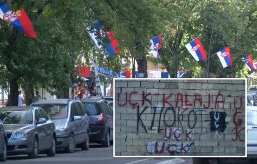 Sramne PROVOKACIJE! Na KiM osvanuo grafit zločinačke UČK: Parola na kući u srpskoj opštini (FOTO)