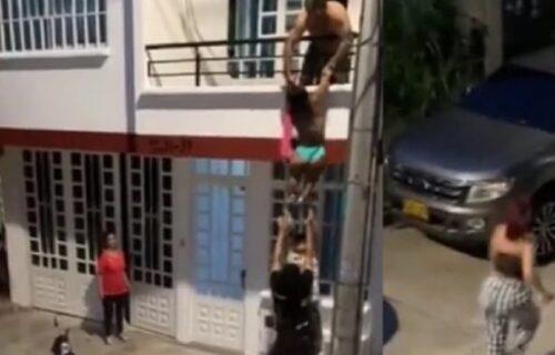Zatekla muža sa drugom ženom: Ljubavnica pokušala da se sakrije u KUTIJU, ali je opasno pogrešila (VIDEO)