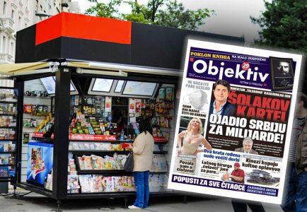 Sutra u novinama Objektiv: Šolakov kartel oštetio državu za milijarde… (NASLOVNA STRANA)