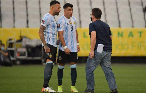 Haos u Brazilu: Argentinci nasrnuli na federalca, pa izašli sa terena (VIDEO)