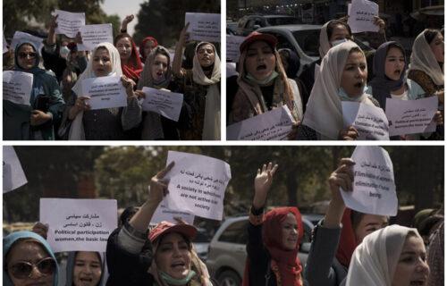 HAOS u Kabulu: Žene izašle na ulicu i PROTESTUJU, traže da se vrati njihovo ministarstvo (FOTO)