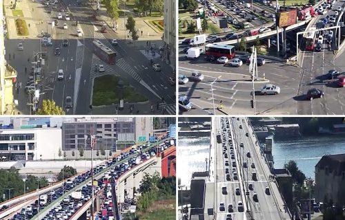 VELIKE gužve na ulicama Beograda: Kilometarske kolone na auto-putu, vozila na mostovima MILE (FOTO)